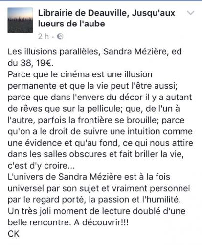 Les illusions parallèles Sandra Mézière Coup de coeur librairie.jpg