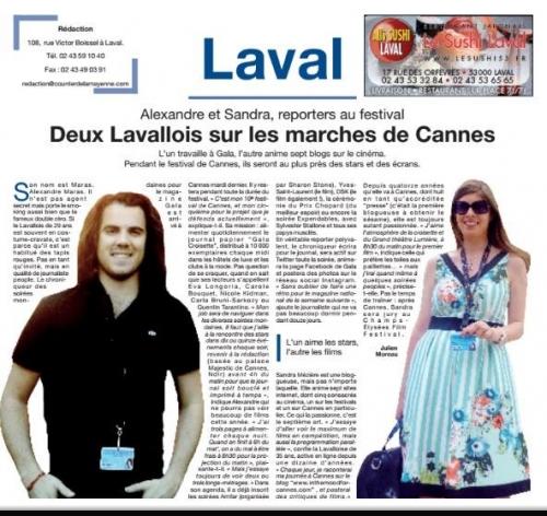 Sandra Mézière Courrier de la Mayenne Mai 2014.jpg