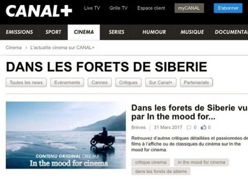 cinéma, Canal +, film, In the mood for cinema, critique, Safy Nebbou, Raphaël Personnaz, Dans les forêts de Sibérie