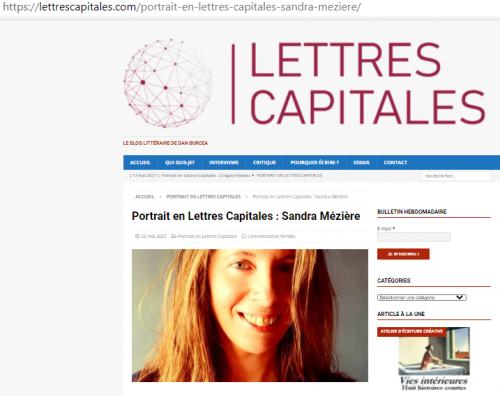 Interview de la romancière Sandra Mézière Lettres Capitales.png